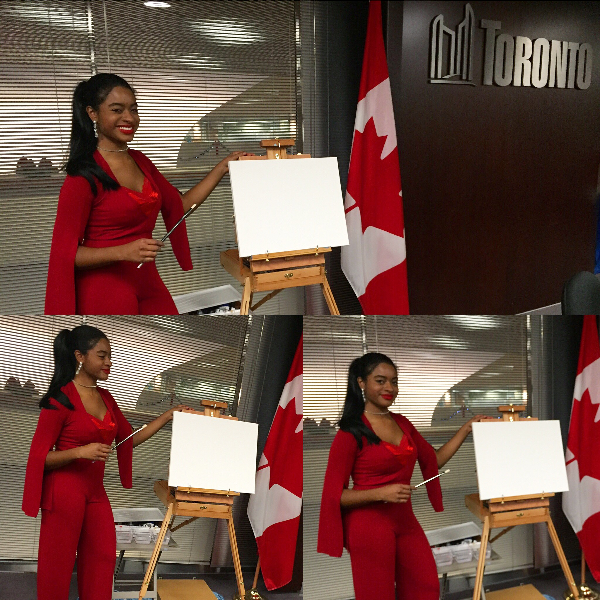 Painting Live at Toronto City Hall