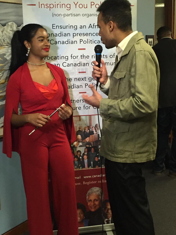 at the Canadian Black Caucus event