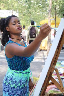 Painting live at Ryerson's Tumult