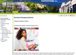 Summer Company Alumni