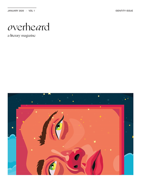 Literary magazine identity issue cover