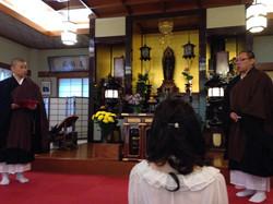 見返り阿弥陀様に御念仏と礼拝