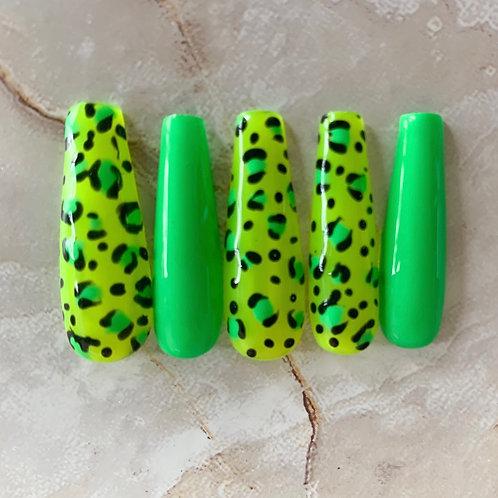 Cheetah girl nails | Press on Nail Set | SELFEEE NAILS