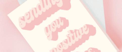 Positive Vibes Card