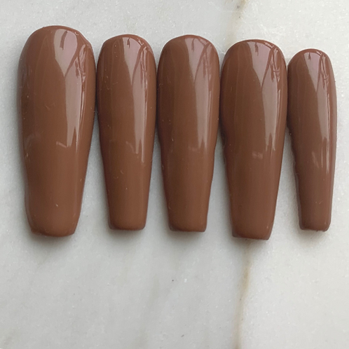 HOT CHOCOLATE Press on Nail Set | SELFEEE NAILS