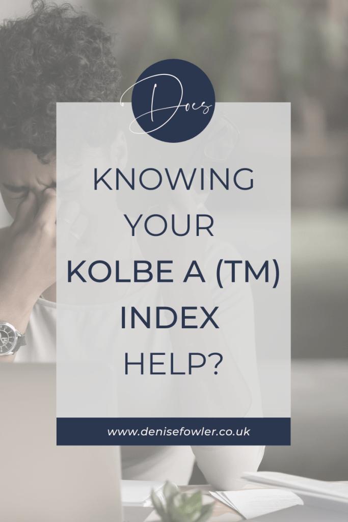 Kolbe A Index