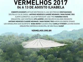 Teatro na floresta: Festival Vermelhos 2017 em Ilhabela: 03-14 de Agosto.