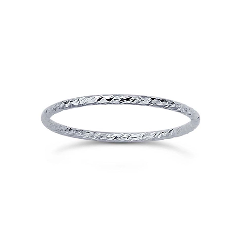 Sterling Sparkle Band (Stackable Accent Band)