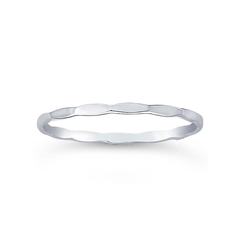 Sterling Hammered Band (Stackable Accent Band)