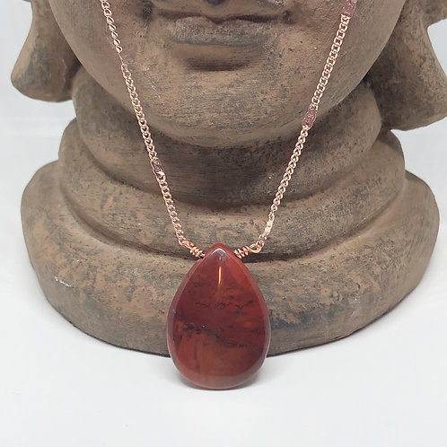 Brecciated Jasper Drop Necklace