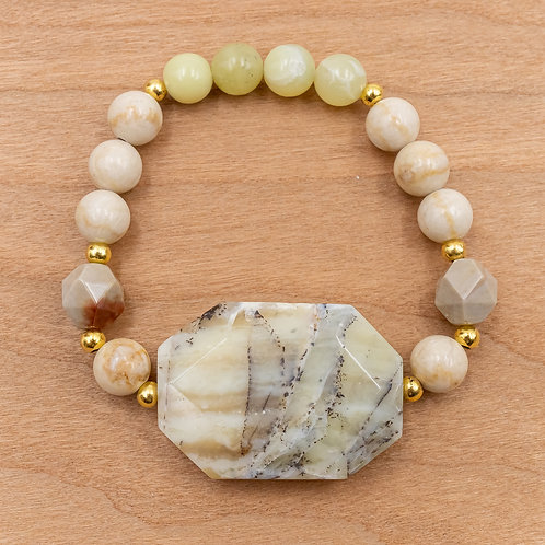 Yellow Opal Stretch Bracelet