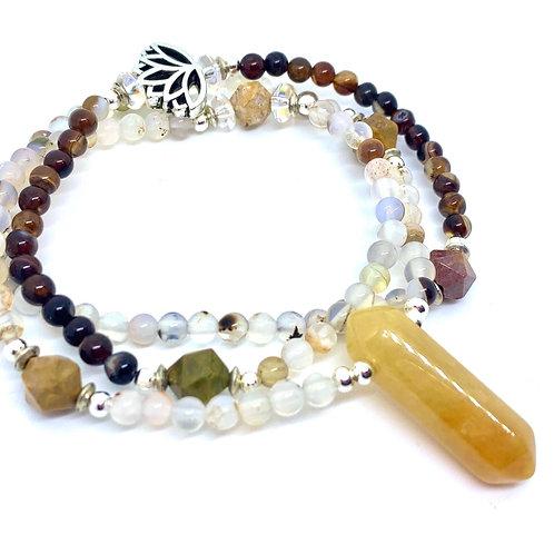 Custom FULL MALA stretch bracelet/necklace