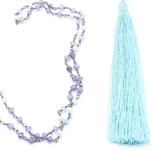Blue Beauty Tassel