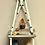 Thumbnail: Grey and teal distressed tiered double macrame shelf