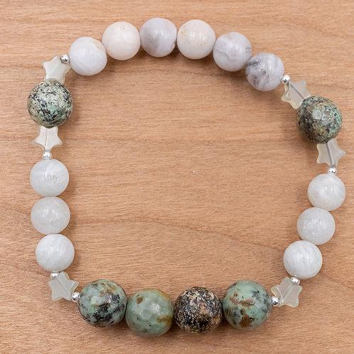Jade Star Stretch Bracelet