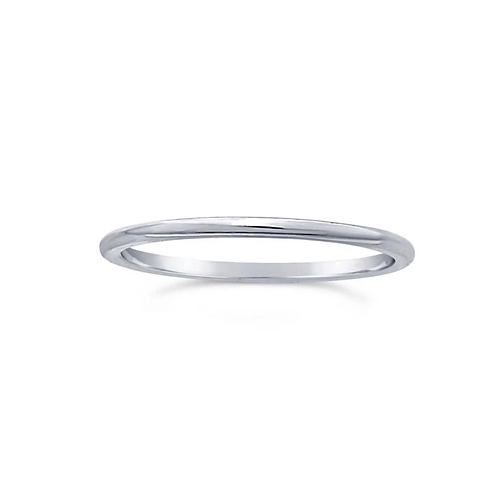 Simple Sterling Band (Stackable Accent Ring)