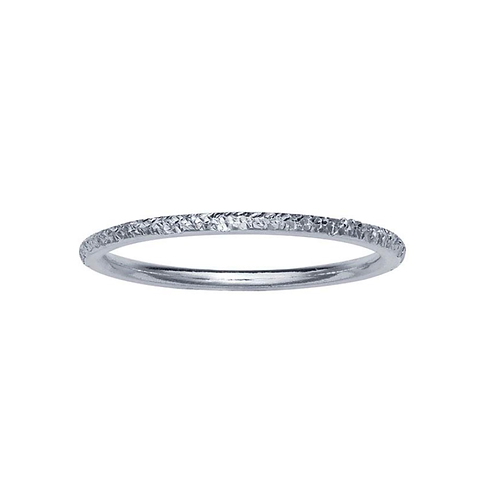Steling Diamond Cut Stackable Accent Band