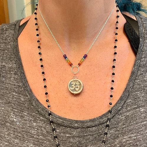 OM symbol chakra necklace