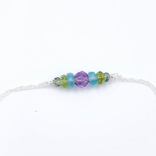 Custom Sterling Birthstone Bracelet