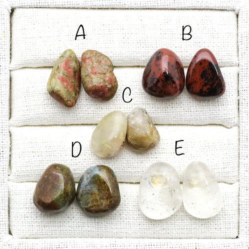 Tumbled Stone Earrings