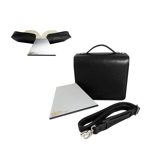 SchönfelderSKIN Tasche – puro (Vollrindleder), mit rutschfester Buchstütze