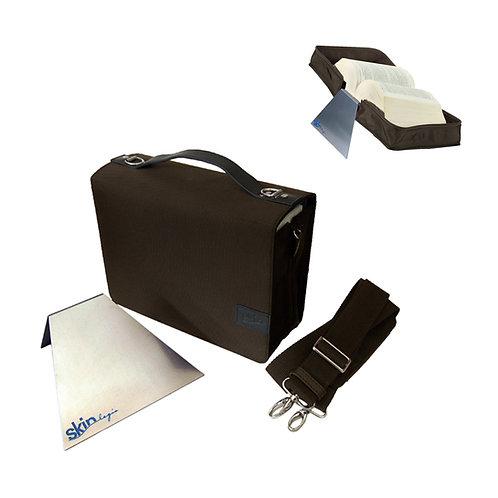 Ziegler/TremelSKIN Tasche – (Nylon/Leder), mit rutschfester Aluminium Buchstütze