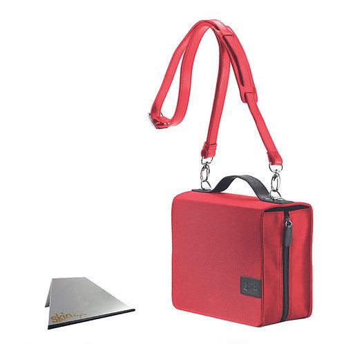 SchönfelderSkin Basic (Nylon/Leder), rot, mit Aluminium-Buchstütze