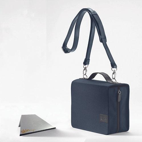 SchönfelderSkin Basic (Nylon/Leder), blau, mit Aluminium-Buchstütze