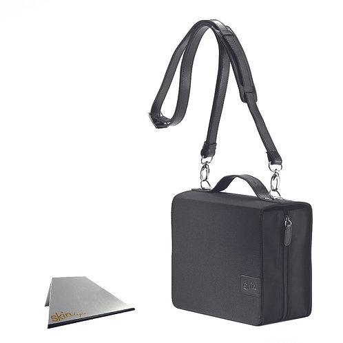 SchönfelderSkin Basic (Nylon/Leder), schwarz, mit Aluminium-Buchstütze