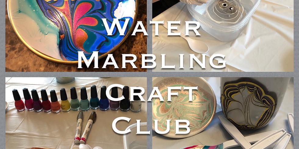 Water Marbling Craft Club
