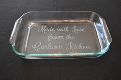 Etched Pyrex Dishes