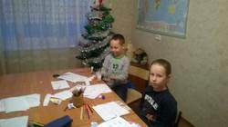 Новогоднее занятие детей 1 и 2 кл