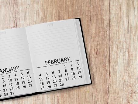 Расписание мероприятий на февраль
