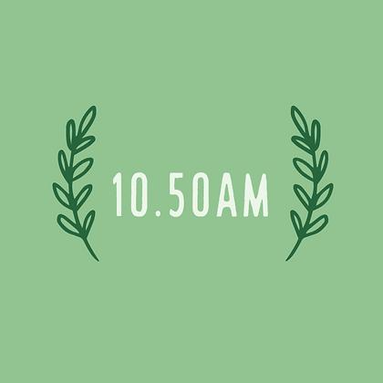 Tuesday 10.50am
