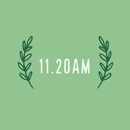 Saturday 11.20am