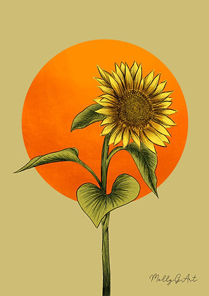 Sunflower Print - Molly Green Art
