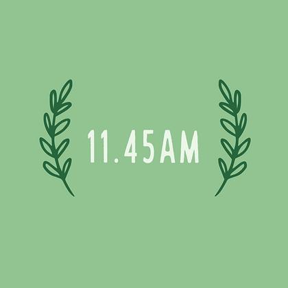 Thursday 11.45am