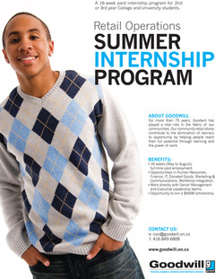 Summer Intern poster