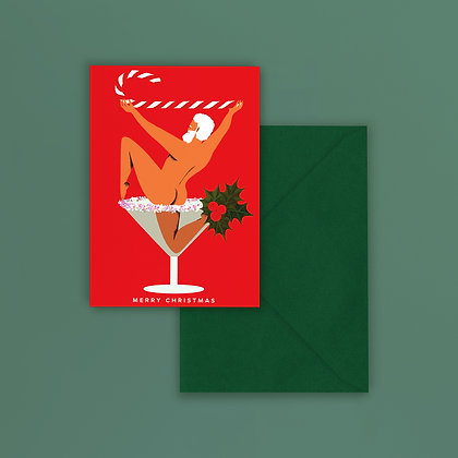 PREORDER Christmas Cocktail Greeting Card