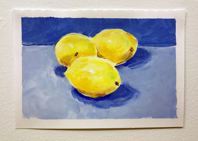 Still Life of Lemons by Danielle Wright
