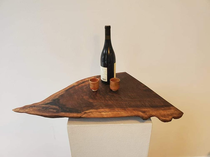 Figured Black Walnut Centerpiece with Indigo Fill by Serena JV Elston