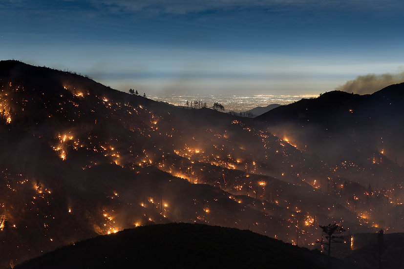Los Angeles from The Bobcat Fire by Kevin Cooley