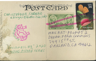Covid Mail #3, 2020, Looting History Series (back of postcard)