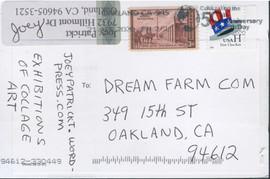 Business History postcard (back)