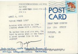 Feather Postcard Print (back)