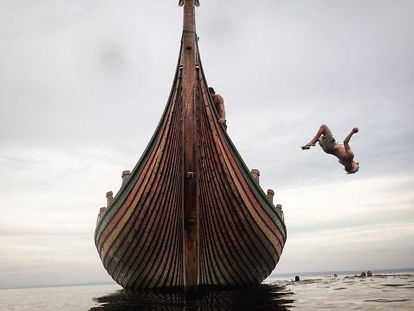 Quick dip on a viking ship Anna Spring.j