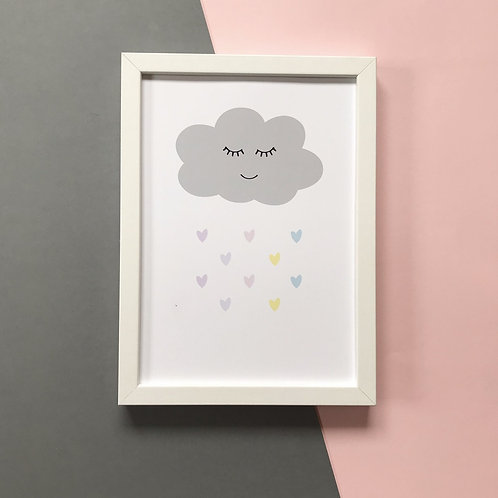Cloud Raining Hearts - Print