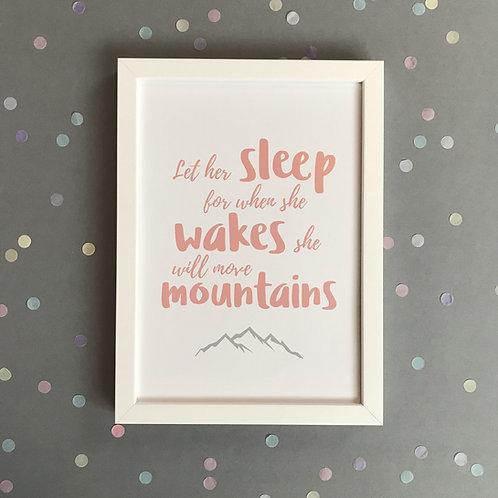 Let Her Sleep - Print