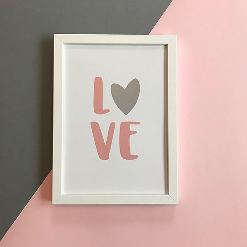 LOVE - Portrait Print