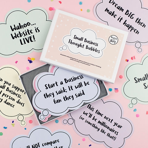 Small Business Thought Bubbles - Pastel